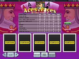 Distreaza-te cu Aces and Faces, dezvoltat de Playtech